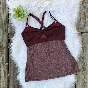 Lululemon Heathered Built In Bra Tank Top